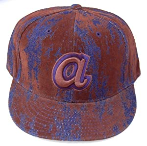 Atlanta Braves American Needle Fitted Hat - Denim & Brown Lichen Size 7 1 2 by New Era
