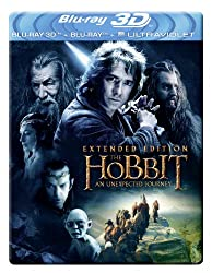 The Hobbit: An Unexpected Journey - Extended Edition Steelbook [Blu-ray 3D + Blu-ray + UV Copy] [2012] [Region Free]