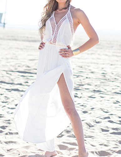 a211c9677c37a4 MG Collection High Fashion Designer White Long Beach Dress / Swimsuit Cover  Up