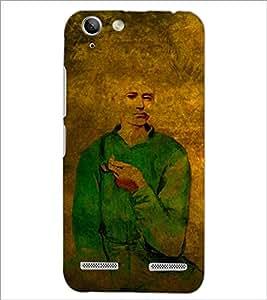 PrintDhaba Man Painting D-3255 Back Case Cover for LENOVO VIBE K5 (Multi-Coloured)