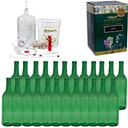 Complete Wine Package Equipment Kit w/ Plastic Plunger Corker -White Zinfandel