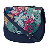 #10: Awesome Fashions Women's sling / side bag printed blue( fully hand made )