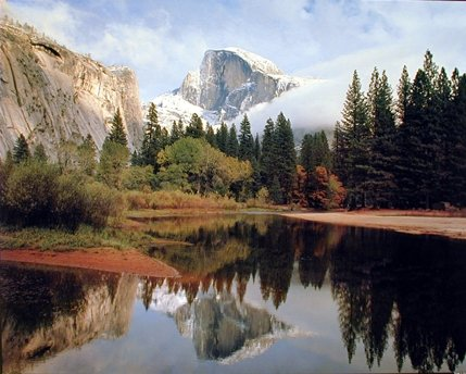 Yosemite Valley Half Dome Lake Mountain Merced River Nature Scenery Art Print Poster (8x10) (Yosemite Picture compare prices)