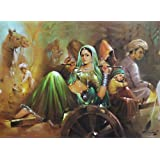 "Dolls Of India ""The Budding Beauty"" Reprint On Paper - Unframed (28.57 X 20.96 Centimeters)"