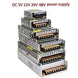 Lighting Transformer AC110V-220V To DC 5V 12V 24V 48V Power Supply Adapter 2A 5A 10A 15A 20A 30A LED Strip Switch Driver 48V 10A (Color: 48V, Tamaño: 10A)