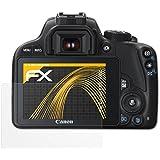 3 x atFoliX Film protection d'écran Canon EOS 100D / Rebel SL1 Film protecteur Protecteur d'écran - FX-Antireflex anti-reflet