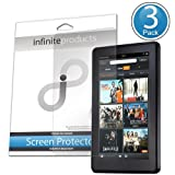 Infinite Products DeflectorShield Screen Protectors for Amazon Kindle Fire (3 Pack) ANTI-FINGERPRINT ~ Infinite Products
