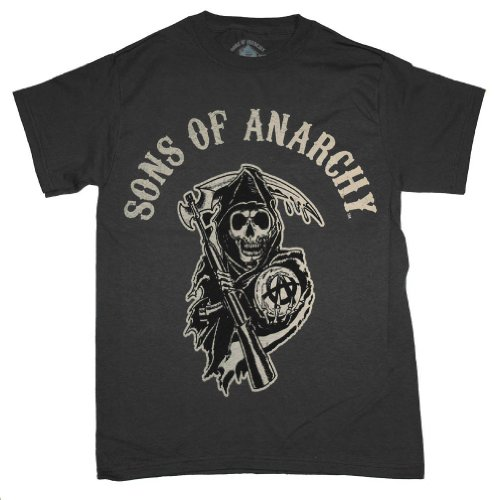Sons of Anarchy Logo T-shirt (Size:XXL, Color:Gray)