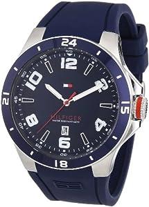 Tommy Hilfiger 1790862 - Reloj analógico de cuarzo para hombre con correa de silicona, color azul de Tommy Hilfiger