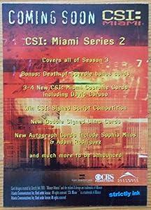 CSI Miami series 2 promo trading card PR2