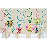Amscan Tinker Bell Best Friends Fairies Swirl Decorations, Multicolor