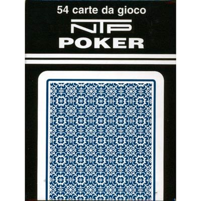 NTP Long Life Poker Size Standard Index Playing Cards (Blue) - 1