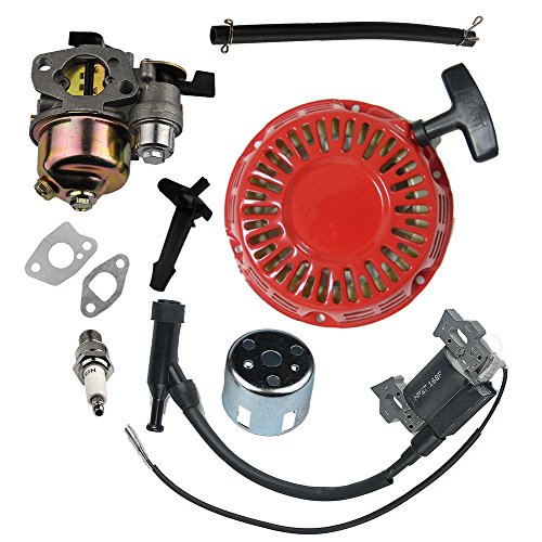 HIPA Ignition Coil + Spark Plug + Carburetor + Recoil Starter for HONDA GX110 GX120 Engine (Honda Carburetor Gx 120 compare prices)