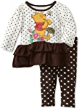 Disney Baby-Girls Infant 2 Piece Winnie The Pooh Polka Dot Legging Set