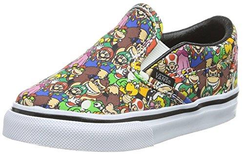 Vans Classic Slip-On, Scarpe Primi Passi Unisex - Bimbi 0-24, Multicolore ((Nintendo) Super Mario Bros/Multi), 22.5 EU