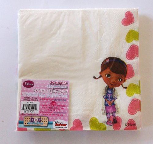 Disney Doc Mcstuffins Lunch Napkins - 1