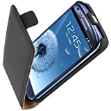 Yayago �tui � rabat en cuir pour Samsung Galaxy S3 Mini i8190 Noir