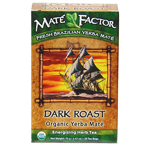 The Mate Factor Organic Yerba Mate Dark Roast -- 20 Tea Bags (Yerba Mate Tea Dark Roast compare prices)