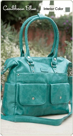 Namaste Harlow Handbag Shoulder Bag Caribbean Blue Vegan Purse Tote by Namaste