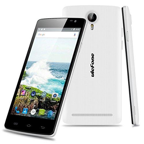 "Ulefone Be Pure Lite - 3G Smartphone Libre Multitáctil Android 6.0 (Pantalla IPS 5.0"", 1.3GHz MT6580 Quad Core, 1GB RAM 8GB ROM, 8.0MP Cámara, GPS, WIFI, Bluetooth, Dual SIM) (Blanco)"
