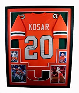 Bernie Kosar Framed Jersey Signed JSA COA Autographed Browns Miami Hurricanes
