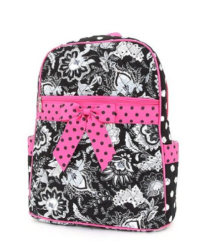 Belvah Large Quilted Floral Backpack