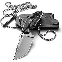 CRKT cr2805Civet 8cr13mov Messer-Hals mit feststehender Klinge