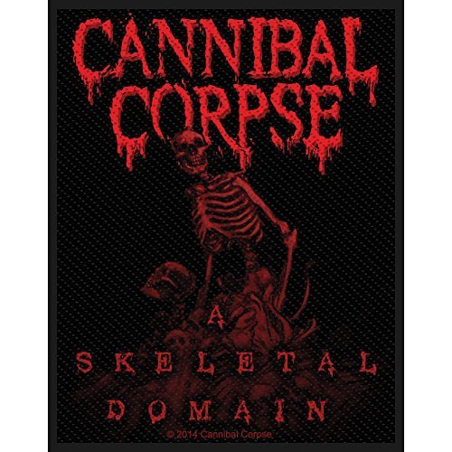 Cannibal Corpse Men's A Skeletal Domain Woven Patch Black by Unknown (0100-01-01)