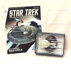 #21 Star Trek USS ENTERPRISE E Die-Cast Metal Ship-UK/Eaglemoss w Mag