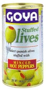 Goya Stuffed Olives Minced Hot Peppers 5.25 oz