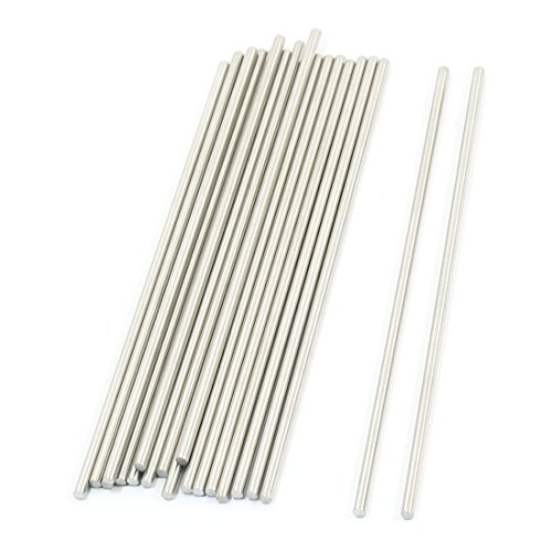 20Pcs RC Toy Car Model Part Stainless Steel Round Rod Axle 3mmx140mm - 1