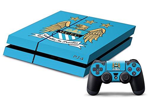 PS4専用保護スキンシール(本体用4枚セット×1&コントローラー用2枚)サッカー特集 (マンチェスター・シティFC)