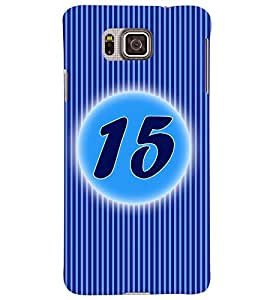 Fuson 3D Printed Numerology Designer back case cover for Samsung Galaxy Alpha G850 - D4233
