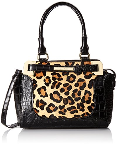 Anne Klein Hear Me Roar 60339120 Top Handle Satchel,Brown Leopard,One Size