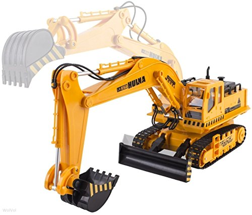 WolVol Big Electric RC Remote Control Excavator Construction Truck Toy for Kids with Lights and Sounds (11 Channel Full Functional, with Demo Option) (Remote Trucks compare prices)
