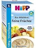 Hipp Bio Milchbrei Feine Fruechte, 4er Pack (4 x 500 g)