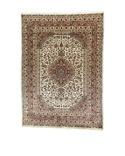 L'Eden del Tappeto Alfombra Kashmirian F/Seta Crudo / Marrón 241t x t173 cm