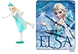 Disney Frozen Skating Elsa and Silk Touch Blanket Bundle