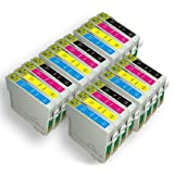 20 Moreinks Compatible Printer Ink Cartridges to Replace Epson T0715 - Cyan, Yellow, Magenta, Blackby Moreinks