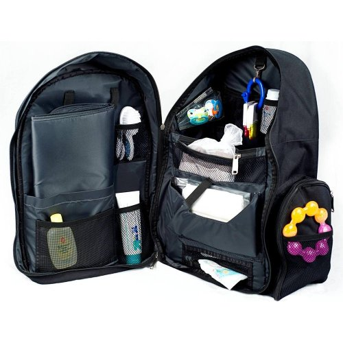 okkatots travel baby depot backpack bag black nappy bag nappy bags designer. Black Bedroom Furniture Sets. Home Design Ideas