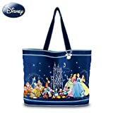 The Wonderful World Of Disney Tote Bag With Two Free Matching Cosmetic Cases by The Bradford Exchange