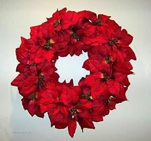 Poinsettia Silk Indoor Outdoor Christmas