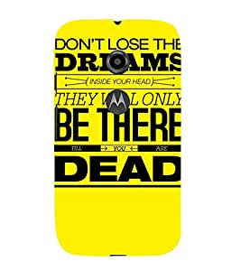 MEANINGFULL QUOTE IN A YELLOW BACKGROUND 3D Hard Polycarbonate Designer Back Case Cover for Motorola Moto E2 :: Motorola Moto E (2nd Gen)