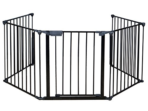 TMS Baby Safety Fence Hearth Gate BBQ Metal Fire Gate Fireplace Pet Dog Cat Fence (Hearth Gate Fireplace Gate compare prices)
