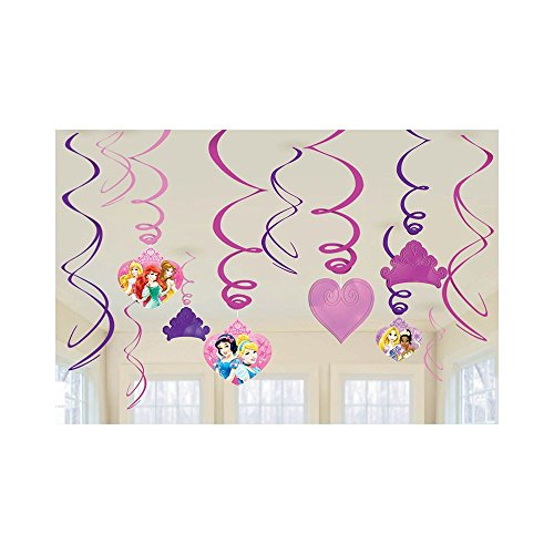 Disney Princess Foil Swirl Hanging Decorations (12 - 1