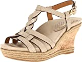 Wrap yourself in the wellness embrace of this cork-wrapped wedge sandal with braided rope detail, the Earthies Corsica. An elaborate interplay between a wide, contoured front strap and complementing cross straps yields an exotic one-of-a-kind design.• Ankle strap features buckle and hidden stretch material for fit adjustability • Cupped heel sets foot into the proper supported position• Anatomic arch increases touch points along the transition from heel to forefoot • Cradled toe area features gentle curl to evenly distribute weight away from toes