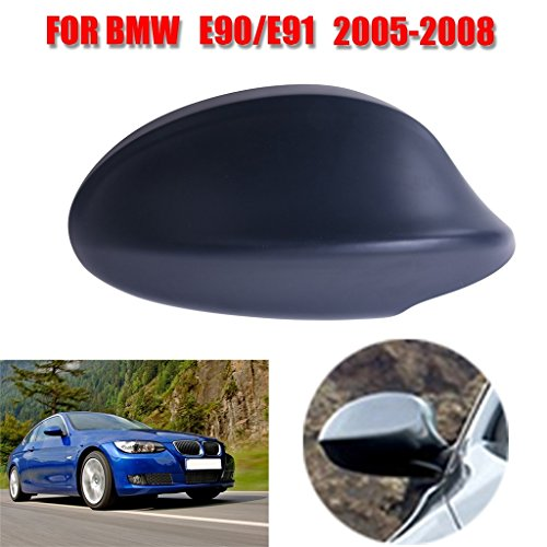 King Deluxe 1 PCS Right Side Black Mirror Cover for 2005-2008 BMW 3-Series E90 E91 325i 328i 330i Sedan (Bmw 325i Side Mirror compare prices)