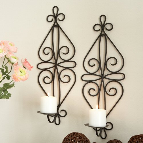 Amazon.com - JCPenney S/2 Anisette Candleholder Wall Sconces - Brown