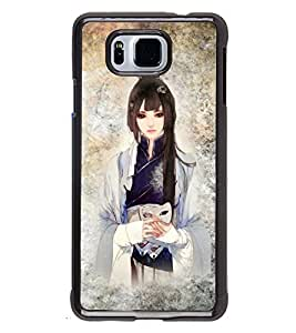 Fuson 2D Printed Girly Designer back case cover for SAMSUNG GALAXY ALPHA G850 - D4415