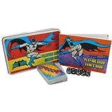 DC Comics Batman Playing Card and Dice Set in a Flat Brushed Tin